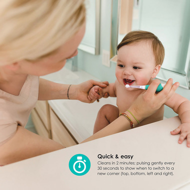 bbluv Sonik 2 Stage Sonic Toothbrush For Baby and Toddler