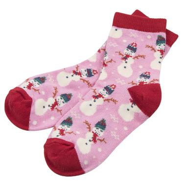 Little Blue House by Hatley Kids Socks Vintage Holiday Pink