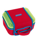 Nalgene Lunch Box Green with Red Sleeve