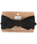 Mud Pie Black Velvet Bow Headband