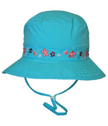 Calikids Mesh Lined Bucket Hat With Floral Details Aqua