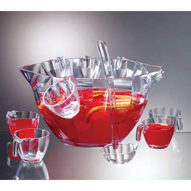 Prodyne Illusions Acrylic Punch and Salad Bowl Combo Set
