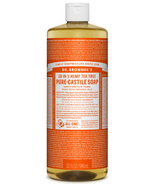 Dr. Bronner's Organic Pure Castile Liquid Soap Tea Tree 32 Oz