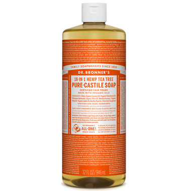 Dr. Bronner\'s Organic Pure Castile Liquid Soap Tea Tree 32 Oz