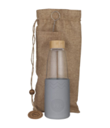 SoL Cups Glass Water Bottle Cool Grey