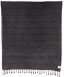 Tofino Towel The Shore Washed Black Turkish Towel