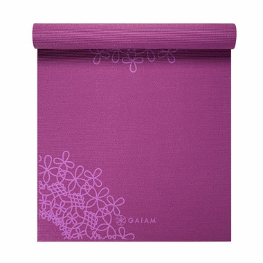 Gaiam Printed Yoga Mat 3 mm Purple Medallion