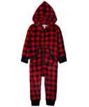 Hatley Little Blue House Kid's Hooded Fuzzy Fleece Jumpsuit
