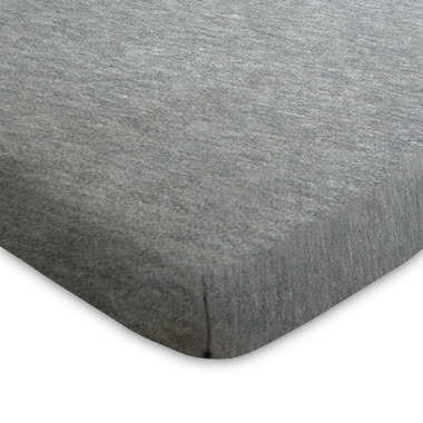 Lolli Living Fitted Sheet Grey Marl Jersey