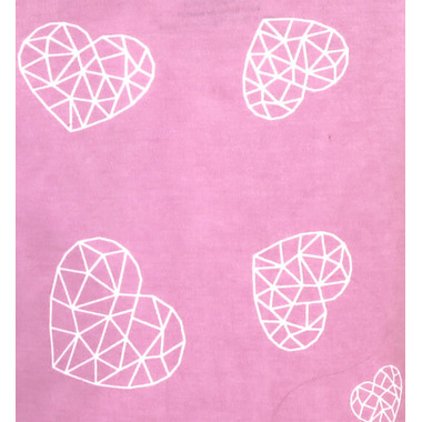 ZippyJamz Organic Cotton Footed Sleeper Heart Breaker Pink