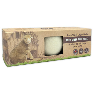 Moss Creek Wool Works Pure Wool Dryer Balls in Natural