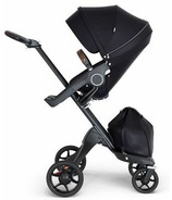 Stokke Xplory Black Chassis & Stroller Seat Black with Brown Handle