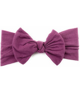 Baby Wisp Nylon Headwrap Bow Headband Midnight Mauve