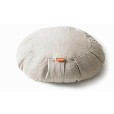 Halfmoon Round Meditation Cushion Natural Linen