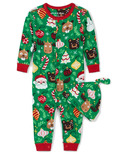Hatley Little Blue House Baby Coverall Holiday Ornaments