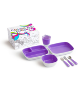 Munchkin Color Me Hungry Toddler Dining Set Purple
