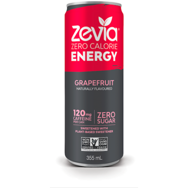 Zevia Zero Calorie Energy Drink Grapefruit