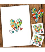 PiCO Temporary Tattoos Heart and Patches Card & Tattoos