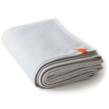 Halfmoon Cotton Yoga Blanket Cloud Grey Herringbone