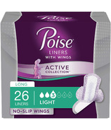 Poise Active Collection Incontinence Liners with Wings Light Absorbency