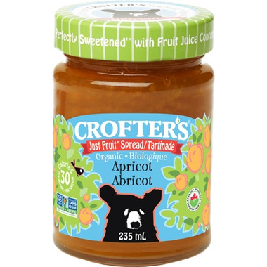Crofter\'s Organic Apricot Just Fruit Spread