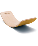 Wobbel Original Balance Board Transparent Lacquer & Mustard Wool Felt