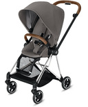 Cybex Mios Chrome Brown Frame with Manhattan Grey Seat Pack