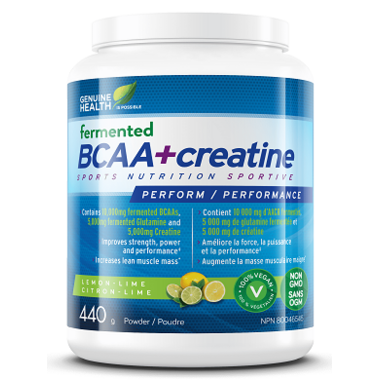 Genuine Health Fermented BCAA+ Creatine Lemon-Lime
