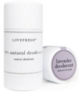 Lovefresh Déodorant en stick crème naturelle à la lavande