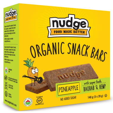 Nudge Organic Snack Bars Pineapple