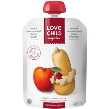 Love Child Organics Pouch Apples, Butternut Squash, Cherries, Ginger