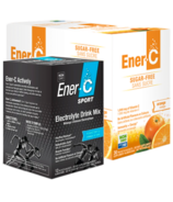 Ener-C Vitamin C Sugar Free + Sport Electrolyte Drink Mix Bundle