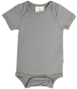 Kyte BABY Short Sleeve Bodysuit in Chrome