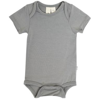 Kyte BABY Short Sleeve Bodysuit in Chrome