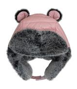Calikids Waterproof Nylon Puffer Hat Bear Pink