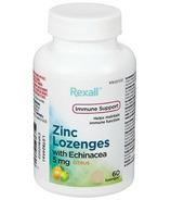 Rexall Zinc Lozenges with Enchinacea 5mg Citrus