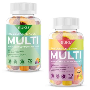 SUKU Vitamins Family MultiVitamin Bundle