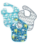 Bumkins SuperBib SeaFriends, Grey Chevron & Whales