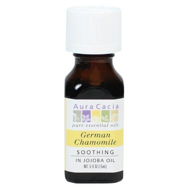 Aura Cacia German Chamomile Essential Oil Blended in Jojoba Oil