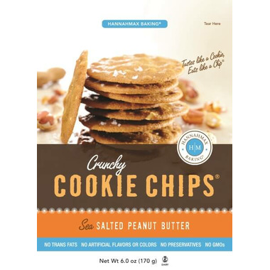 HannahMax Crunchy Cookie Chips Sea Salted Peanut Butter