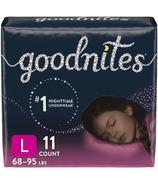 Huggies GoodNites Culottes de Nuit pour Filles Paquet Géant