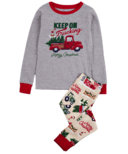 Hatley Little Blue House Kid's PJ Set Country Christmas