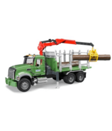 Bruder Toys Mack Granite Timber truck with Loading Crane & Logs