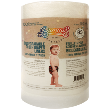 Bummis Biodegradable Maize Cloth Diaper Liners