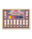 Melissa & Doug Deluxe Happy Handle Stamp Set