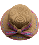 Calikids Kid's Straw Hat with Bow