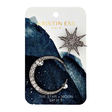 Kristin Ess Hair Star & Moon Clip Set