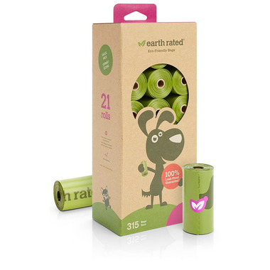Earth Rated Lavender-Scented 21 Refill Rolls Dog Waste Bags