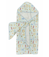 Loulou Lollipop Hooded Towel Set Breakfast Blue