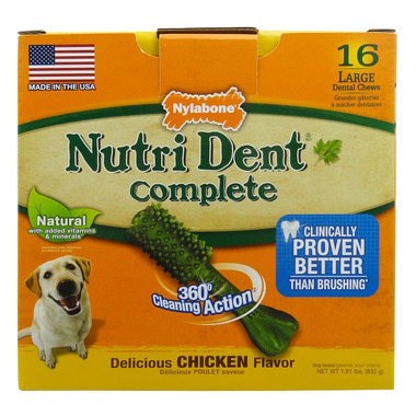 Nutri Dent Complete Dental Chews Chicken Large Size 16 Pack